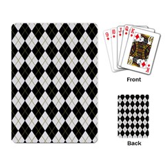 Plaid Pattern Playing Card by Valentinaart
