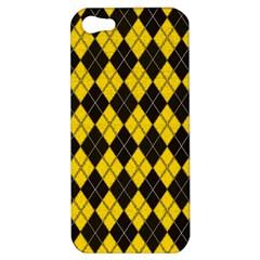 Plaid Pattern Apple Iphone 5 Hardshell Case by Valentinaart