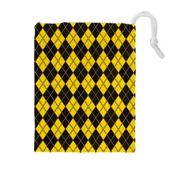 Plaid Pattern Drawstring Pouches (extra Large) by Valentinaart