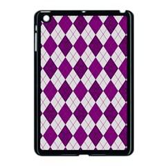 Plaid Pattern Apple Ipad Mini Case (black) by Valentinaart