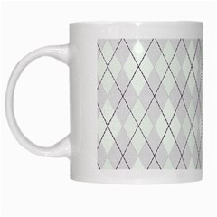 Plaid Pattern White Mugs by Valentinaart