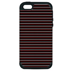 Lines Pattern Apple Iphone 5 Hardshell Case (pc+silicone) by Valentinaart
