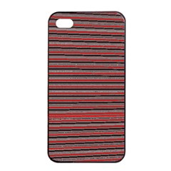 Lines Pattern Apple Iphone 4/4s Seamless Case (black) by Valentinaart