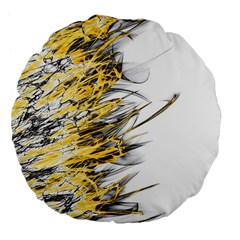 Fire Large 18  Premium Flano Round Cushions by Valentinaart