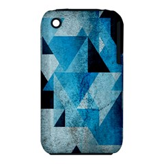 Plane And Solid Geometry Charming Plaid Triangle Blue Black Iphone 3s/3gs by Mariart