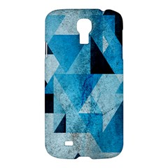 Plane And Solid Geometry Charming Plaid Triangle Blue Black Samsung Galaxy S4 I9500/i9505 Hardshell Case by Mariart