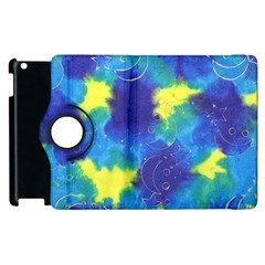 Mulberry Paper Gift Moon Star Apple Ipad 3/4 Flip 360 Case by Mariart