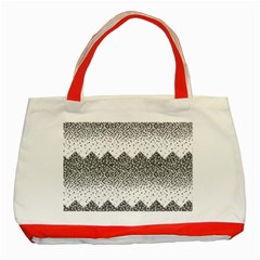 Original Plaid Chevron Wave Classic Tote Bag (red) by Mariart