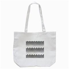 Original Plaid Chevron Wave Tote Bag (white) by Mariart