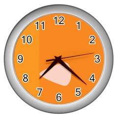 Screen Shot Circle Animations Orange White Line Color Wall Clocks (silver)  by Mariart