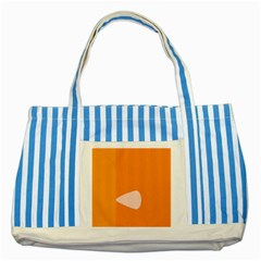 Screen Shot Circle Animations Orange White Line Color Striped Blue Tote Bag by Mariart