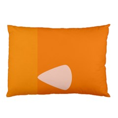 Screen Shot Circle Animations Orange White Line Color Pillow Case