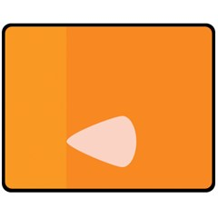 Screen Shot Circle Animations Orange White Line Color Double Sided Fleece Blanket (medium)  by Mariart