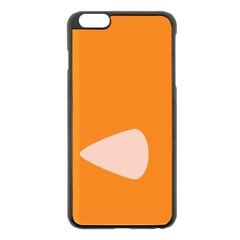 Screen Shot Circle Animations Orange White Line Color Apple Iphone 6 Plus/6s Plus Black Enamel Case by Mariart