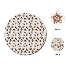 Autumn Leaves Motif Pattern Playing Cards (round)  by dflcprints