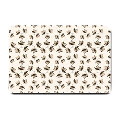 Autumn Leaves Motif Pattern Small Doormat  by dflcprints