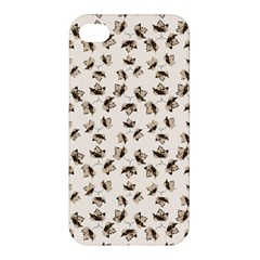 Autumn Leaves Motif Pattern Apple Iphone 4/4s Hardshell Case by dflcprints