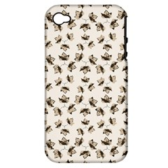 Autumn Leaves Motif Pattern Apple Iphone 4/4s Hardshell Case (pc+silicone) by dflcprints