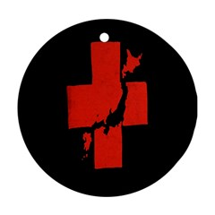 Sign Health Red Black Ornament (round) by Mariart