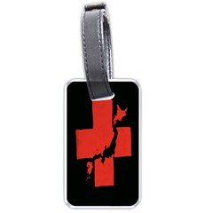 Sign Health Red Black Luggage Tags (one Side)  by Mariart