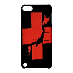 Sign Health Red Black Apple Ipod Touch 5 Hardshell Case With Stand by Mariart