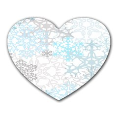 Sign Flower Floral Transparent Heart Mousepads by Mariart
