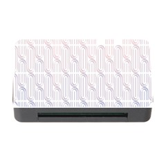 Seamless Horizontal Modern Stylish Repeating Geometric Shapes Rose Quartz Memory Card Reader With Cf by Mariart