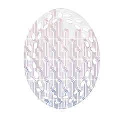 Seamless Horizontal Modern Stylish Repeating Geometric Shapes Rose Quartz Oval Filigree Ornament (two Sides) by Mariart
