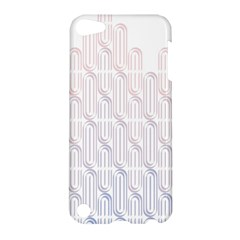 Seamless Horizontal Modern Stylish Repeating Geometric Shapes Rose Quartz Apple Ipod Touch 5 Hardshell Case by Mariart