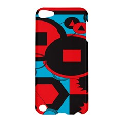 Stancilm Circle Round Plaid Triangle Red Blue Black Apple Ipod Touch 5 Hardshell Case by Mariart