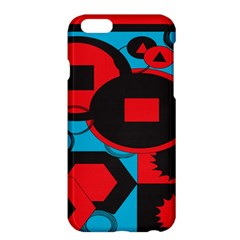 Stancilm Circle Round Plaid Triangle Red Blue Black Apple Iphone 6 Plus/6s Plus Hardshell Case by Mariart