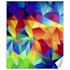 Triangles Space Rainbow Color Canvas 8  x 10  by Mariart