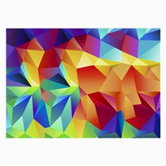 Triangles Space Rainbow Color Large Glasses Cloth (2 Side) by Mariart