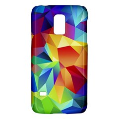 Triangles Space Rainbow Color Galaxy S5 Mini by Mariart