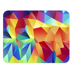 Triangles Space Rainbow Color Double Sided Flano Blanket (large)  by Mariart