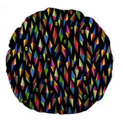 Skulls Bone Face Mask Triangle Rainbow Color Large 18  Premium Round Cushions by Mariart
