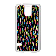 Skulls Bone Face Mask Triangle Rainbow Color Samsung Galaxy S5 Case (white) by Mariart