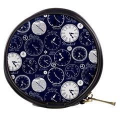 World Clocks Mini Makeup Bags by Mariart