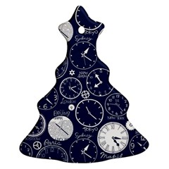 World Clocks Ornament (christmas Tree)  by Mariart