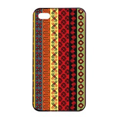 Tribal Grace Colorful Apple Iphone 4/4s Seamless Case (black) by Mariart