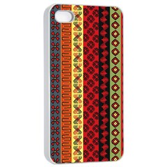 Tribal Grace Colorful Apple Iphone 4/4s Seamless Case (white) by Mariart