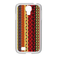 Tribal Grace Colorful Samsung Galaxy S4 I9500/ I9505 Case (white) by Mariart