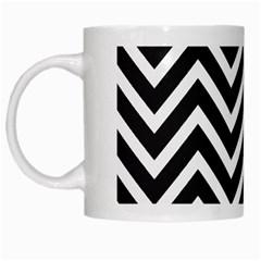 Zigzag Pattern White Mugs by Valentinaart