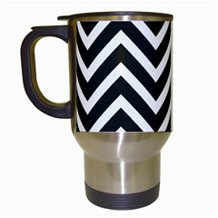 Zigzag Pattern Travel Mugs (white) by Valentinaart