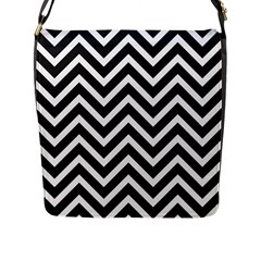 Zigzag Pattern Flap Messenger Bag (l)  by Valentinaart
