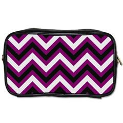 Zigzag Pattern Toiletries Bags 2 Side by Valentinaart