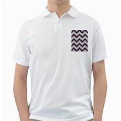 Zigzag pattern Golf Shirts by Valentinaart