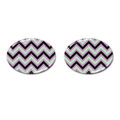 Zigzag Pattern Cufflinks (oval) by Valentinaart