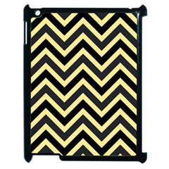 Zigzag Pattern Apple Ipad 2 Case (black) by Valentinaart