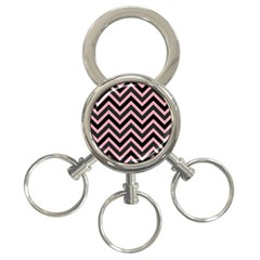 Zigzag Pattern 3 Ring Key Chains by Valentinaart
